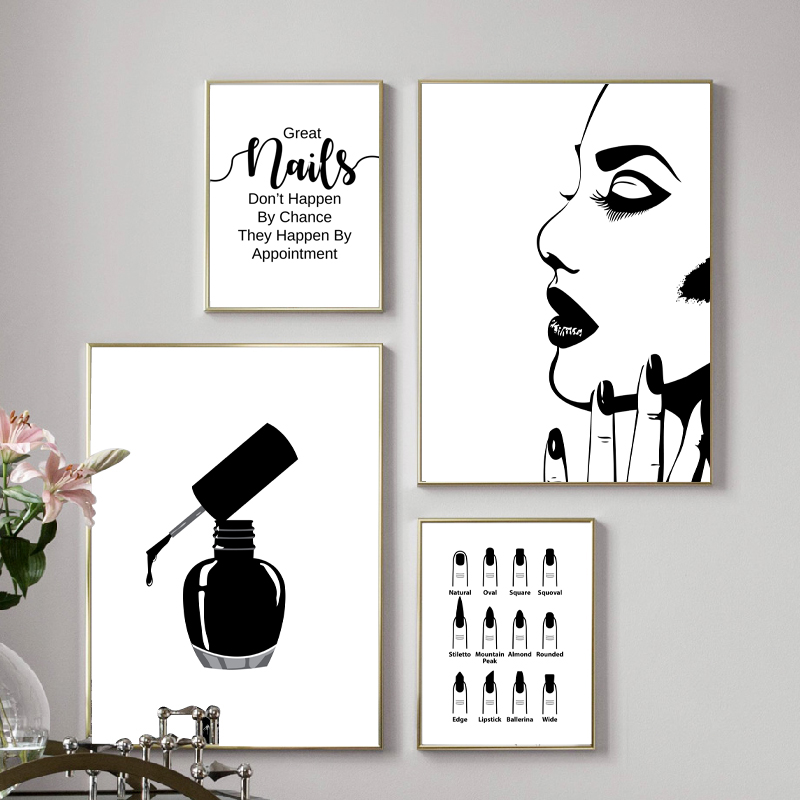 Маникюрный салон цитаты макияж настенные художественные плакаты и принты Ногтей Tech художника подарок модные арт Холст Картина красоты ног...