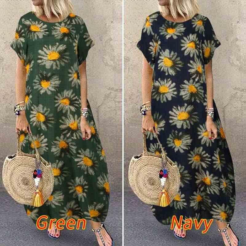 2020 sommer Floral Gedruckt Split Sommerkleid ZANZEA Mode Quaste Party Kleid Frauen Kurzarm Lange Vestidos Weibliche Robe Tunika