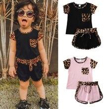 NEW 2020 Summer Toddler Kids Baby Girl Short Sleeve Top Pant
