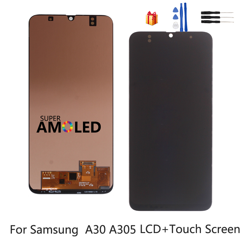 For <font><b>Samsung</b></font> Galaxy <font><b>A30</b></font> A305 A305F Incell Amoled <font><b>LCD</b></font> Display A305FN/DS Touch Screen Digitizer Assembly For <font><b>SAMSUNG</b></font> <font><b>A30</b></font> <font><b>LCD</b></font> Screen image