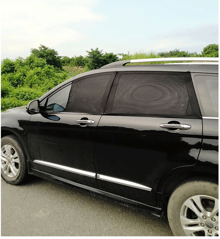 2Pcs Car Clip On Window Shades