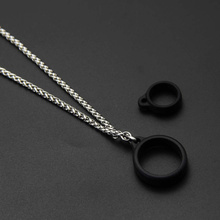 Anti-fallen Anti-skid schlange knochen edelstahl lanyard + 2 stücke vapeband ring für nfix null nord novo 2 rpm40 80 vinci x uwell