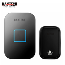 DAYTECH Wireless Doorbell , No Batteries Required for Receiver 60 Chimes, Black