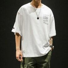 Harajuku Streetwear T Shirt Men Fashions Casual Print Tshirt Half Sleeve Hip Hop T-Shirts Brand Clothing Summer