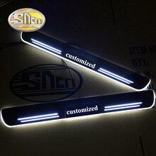 SNCN Wasserdichte Acryl Moving LED Willkommen Pedal Auto Scuff Platte Pedal Türschwelle Pathway Licht Für Volvo S60 2015 2016