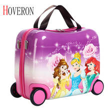 Children Suitcase Luggage-Bags Hard-Case Traveling Wheels Cute New with Riding-Box Multifunctional