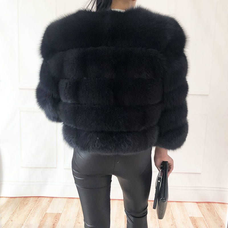 2019 new style real fur coat 100% natural fur jacket female winter warm leather fox fur coat high quality fur vest Free shipping 169