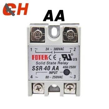 цена на SSR-25AA 40AA 60AA 80AA SSR Single Phase JGX AC Control AC Heat Sink 70-280VAC To 24-480VAC25A 40A 60A80A AA Solid State Relay