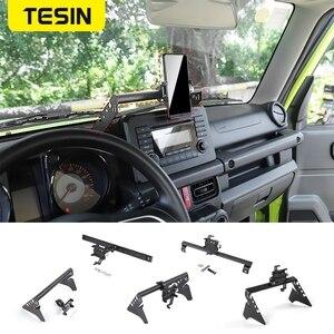 Image 1 - TESIN GPS Stand For Suzuki Jimny JB74 2019+ Car Mobile Phone Holder Support Bracket Rod Accessories For Suzuki Jimny 2019 2020