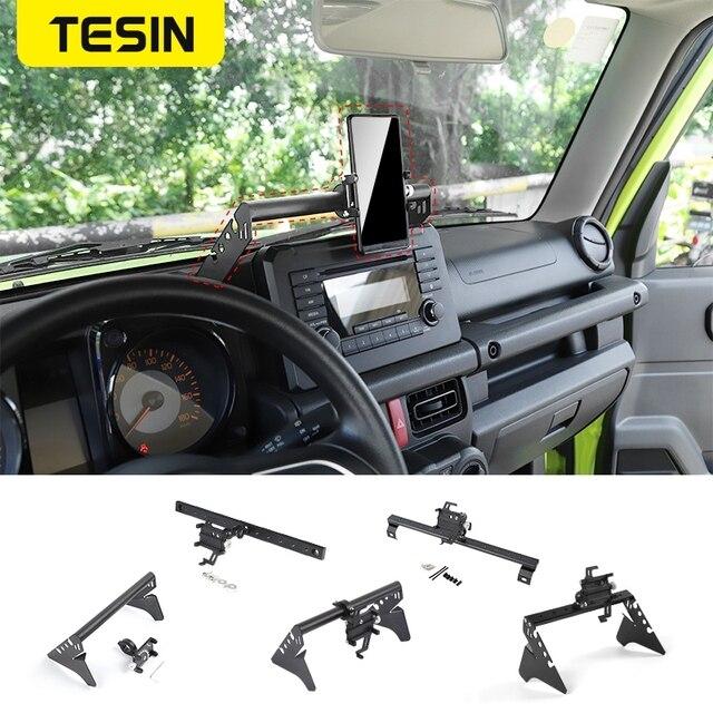 TESIN GPS Stand For Suzuki Jimny JB74 2019+ Car Mobile Phone Holder Support Bracket Rod Accessories For Suzuki Jimny 2019 2020
