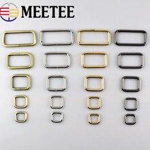 5 шт. 13-50 мм Meetee прямоугольное металлическое уплотнительное кольцо пряжки для сумки тесьма ремень обувь Регулировка DIY аксессуары F4-5