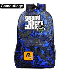 Image 4 - Di modo Caldo di Gioco GTA5 Grand Theft Auto V Della Ragazza del Ragazzo Libro Sacchetto di Scuola Delle Donne Del Sacchetto Pacchetto Adolescenti Zaini Studente Uomini zaino