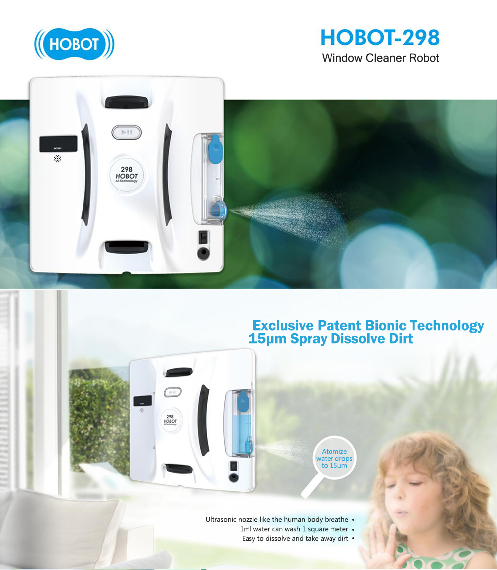 HOBOT-298 Automatic Wiping Robot Window Cleaner with Strong Vacuum Adsorption 6