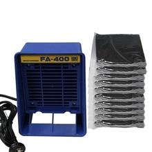 220 В Fa-400 паяльник поглотитель дыма, Esd вытяжка дыма, инструмент для курения, с 10 шт. активированной губкой Eu Plug