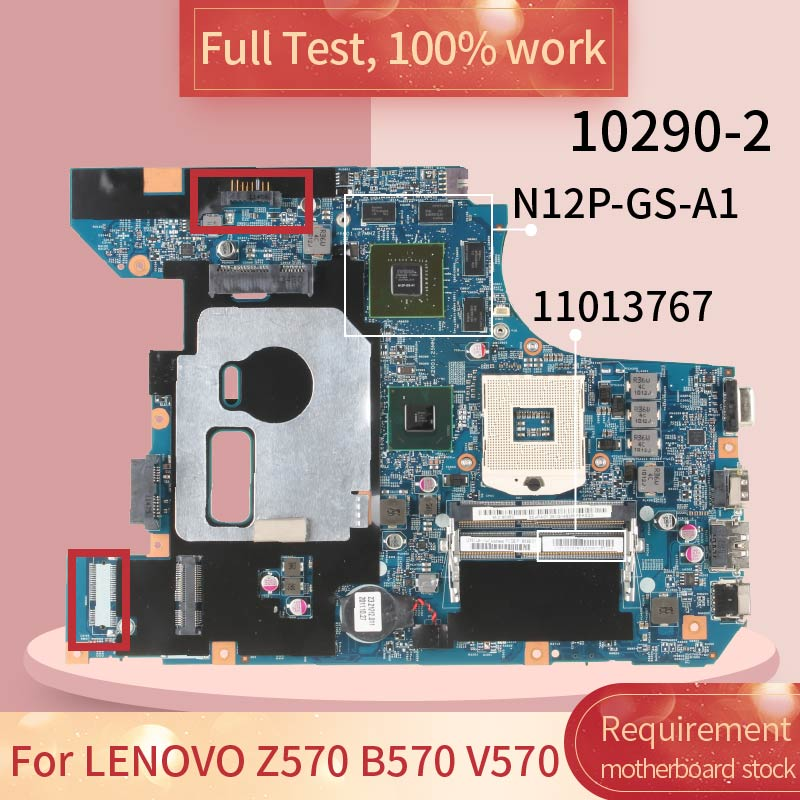 11013767 For <font><b>LENOVO</b></font> Z570 B570 <font><b>V570</b></font> 11S11013767ZZ 10290-2 HM65 N12P-GS-A1 DDR3 Notebook <font><b>motherboard</b></font> Mainboard full test 100% work image