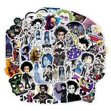 50pcs Stickers Tim Burton Classic Movie Edward Scissorhands Graffiti Sticker For Skateboard Laptop Bicycle Waterproof Decals рубашка burton menswear london burton menswear london bu014emesuw5