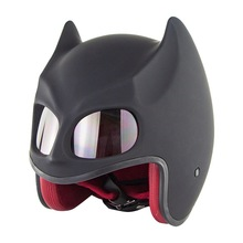 New Motorcycle Batman helmet Dark Knight Personalized motorbike half open face helmet motocross helmets 5 color мото шлем icon alliance dark helmet matte