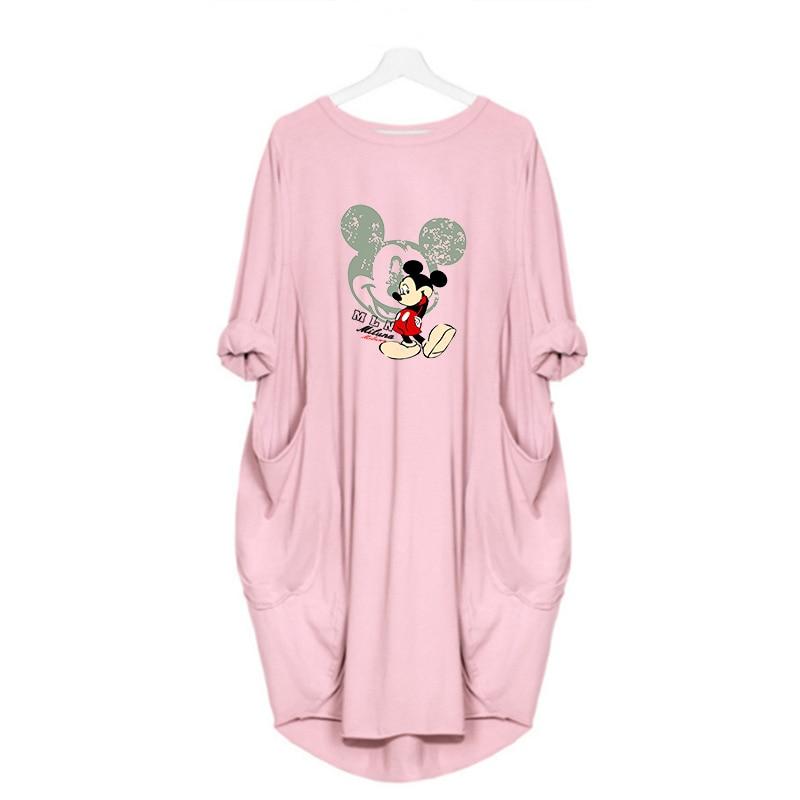 2020 Dress Women Cute Printing Pocket Loose Dresses Vintage Fall Maxi Clothes Party Casual Dresses Woman Plus Size Leopard Dress 15