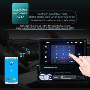 """Image 2 - 7 """"katlanır dokunmatik ekran araba Stereo MP5 oynatıcı RDS AM FM radyo 4.0 multimedya Video oynatıcı desteği USB/TF/AUX kafa birimi"""