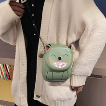 Crossbody Ms. Chain Mini Shoulder Bag Buckle Cat Messenger Bag Lady Handbag and Wallet Evening Clutch 2018 new brand ms shoulder bag butterfly festival ms messenger bag fashion print ms clutch bag young woman bag free shipping