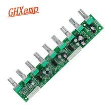 Placa amplificadora de tono, preamplificador 7,1, potencia CC, ajuste de volumen independiente, ajuste de frecuencia de bajos, silencio automático