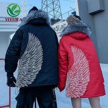 Thick Jacket Coat Parkas Couple Fur-Collar Warm Men Winter Fashion Cotton Top-Quality
