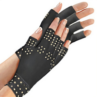 Magnetic Anti Arthritis Health Compression Therapy Gloves Fingerless Gloves Health Gloves——Black