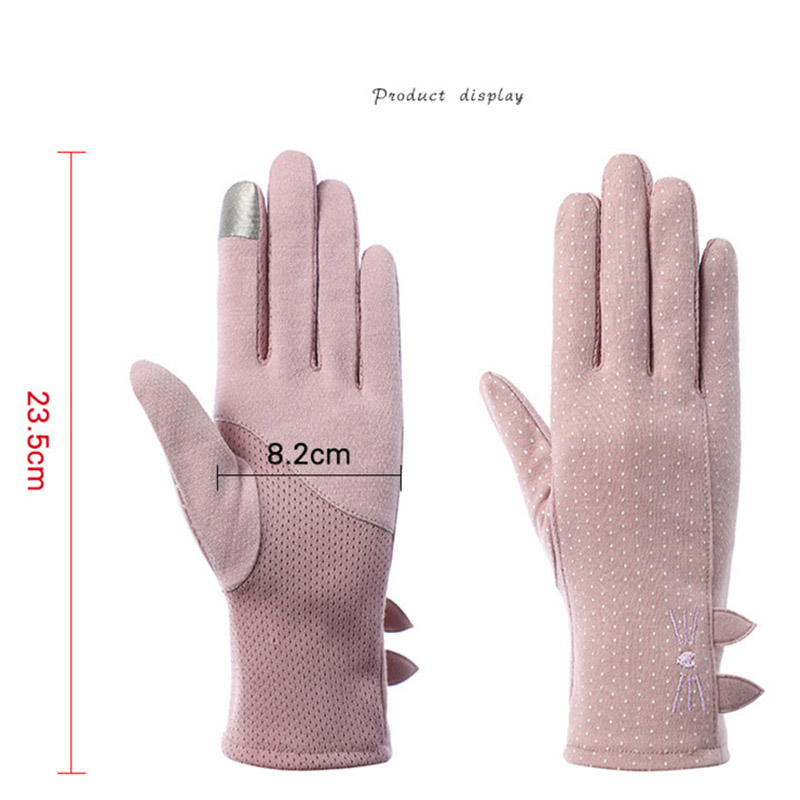 Sexy Summer UV Sunscreen Short Sun Bow Cat Penguin Glove Women Fashion Flowers Knitted Lace Driving Touch Screen Thin Gloves J57