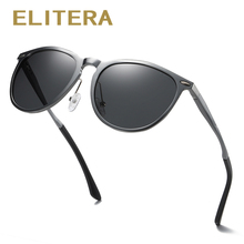 ELITERA Men Women Classic Retro Rivet Polarized Sunglasses Lighter Design Oval Frame UV400 Protection