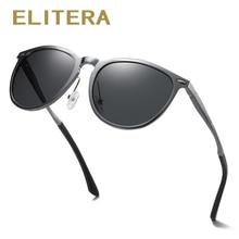 ELITERA 男性女性クラシックレトロリベット偏光サングラスライターデザインオーバルフレーム UV400 保護