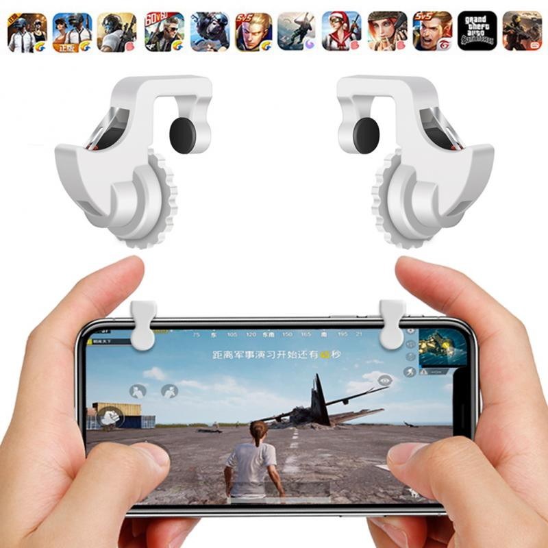 2pcs/lot L1 R1 Gaming Trigger Smart Phone Games Shooter Controller Fire Button Handle for PUBG/Rules of Survival/Knives Out