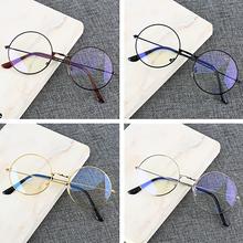 Rétro cadre rond Anti-bleu lunettes de rayonnement ultraléger hommes femmes mode bleu lumière bloquant lunettes lunettes étudiants