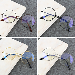Retro Round Frame Anti-blue Radiation Glasses Ultralight Men Women Fashion Blue Light Blocking Glasses Eyewear Students