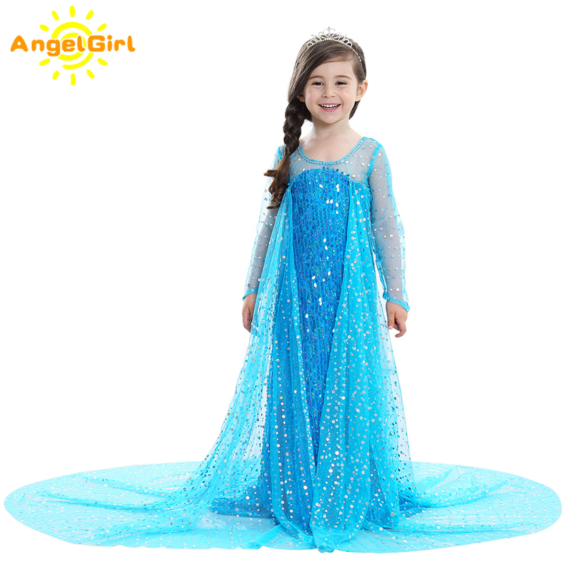 AngelGirl Elegant Girls Princess Dress Princess Theme Party Kids Cosplay Xmas Halloween and Christmas Costumes for Birthday 1