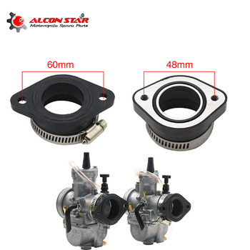 Alconstar For KEIHIN KOSO OKO PWK 21/24/26/28/30/32/34mm Motorcycle Carburetor Joint Intake Adjuster Interface Carb Adapter 16065 1130 motorcycle carburetor carb adapter intake interface carb adapter for kawasaki zx1000 gpz1000rx 1986 1988 ex400 ex 4