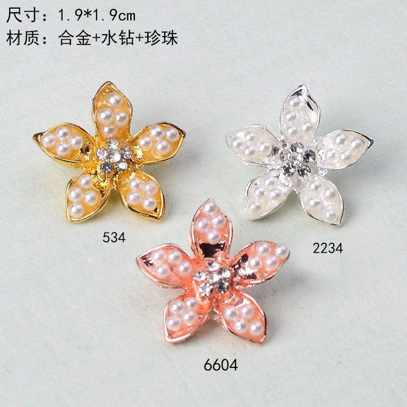 50 PCs Silver Tone Flower Charms Pendants Findings