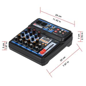 Image 2 - Freeboss AM PSM تيار مستمر 5 فولت امدادات الطاقة USB واجهة 6 قناة 2 مونو 2 ستيريو 16 تأثيرات جهاز مزج الصوت