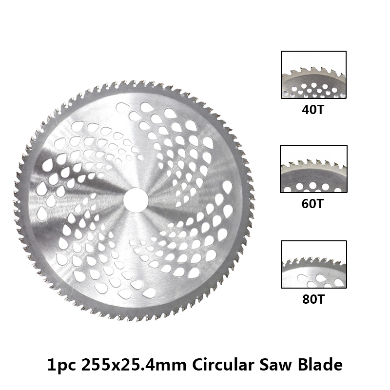 1pc-255mm-40T-60T-80T-Brush-Cutter-Blade-Lawn-Mower-Cutter-Replacement-Circular-Saw-Blade-For