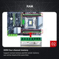 computer motherboard Computer Motherboard 4xDDR4 DIMM 2400/2133MHz SATA3.0 NVME M.2 Dual USB 3.0 PCI-E Slot LGA2011-3 Pin CPU 4 Channels Motherboard (4)
