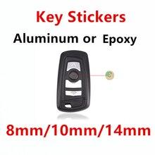 10 шт. 14 мм 10 мм 8 мм Хрустальный эпоксидный или металлический автомобильный Стайлинг стикер для ключа дистанционный брелок наклейка эмблема ...