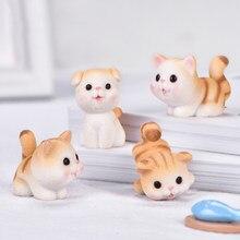 Zocdou 1 peça gatinho impertinente pet cat pequena estátua estatueta artesanato crianças figura ornamento miniaturas decoração para casa