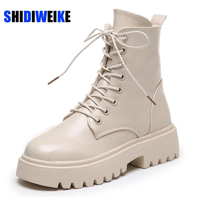 Женские ботильоны; Обувь на плоской подошве; Женская обувь на шнуровке; Сезон осень зима; Повседневные полусапожки; Женская обувь; Размеры 35 40; AC166; 2020|Полусапожки|   | АлиЭкспресс