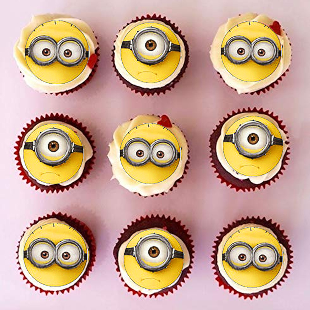 Surprising 35Pcs Lot Cute Minions Wafer Paper Cupcake Topper Birthday Party Personalised Birthday Cards Cominlily Jamesorg