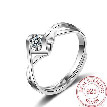 Women Adjustable Open Finger Ring Jewelry 925 Silver Jewelry