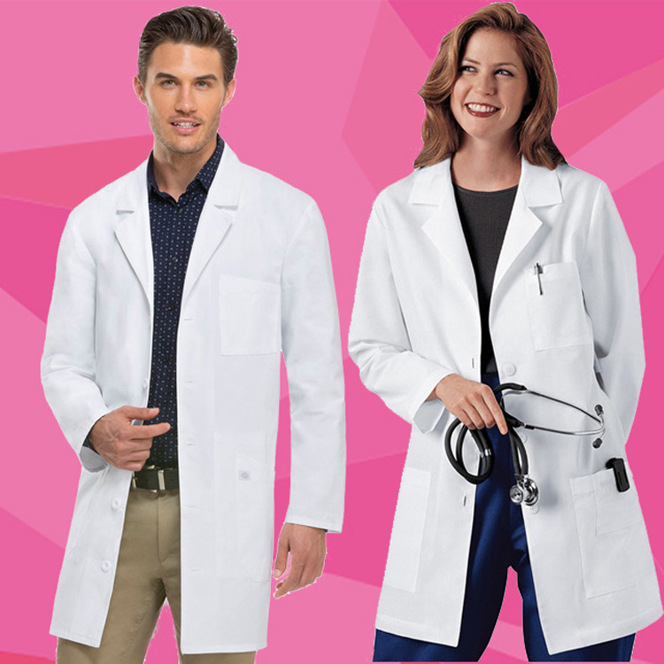 White Coat Doctor Clothing Long Sleeve Hospital Dental Clinic Men And Women Experimental Work Clothes