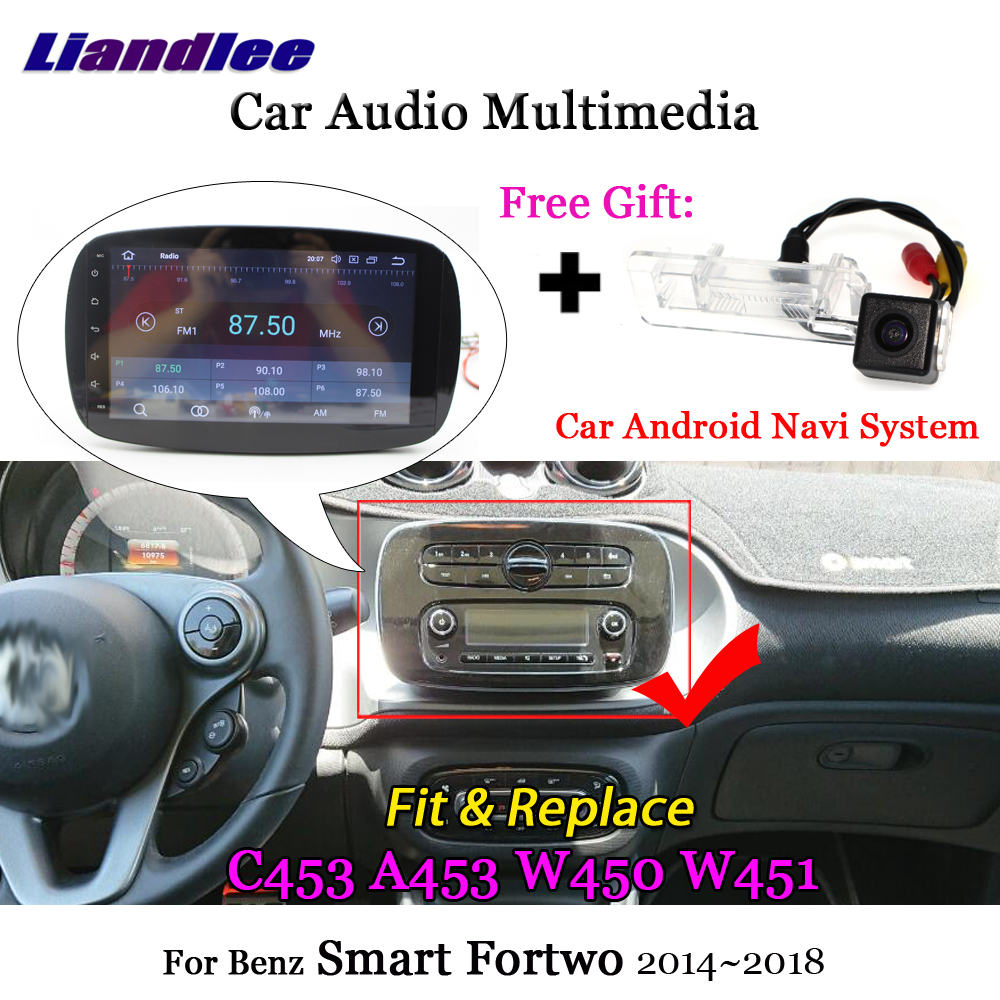 <font><b>For</b></font> Benz Smart Fortwo C453 A453 W450 W451 2014 2015 2016 2017 2018 Android Radio TV <font><b>GPS</b></font> Navigation Multimedia System HD Screen image
