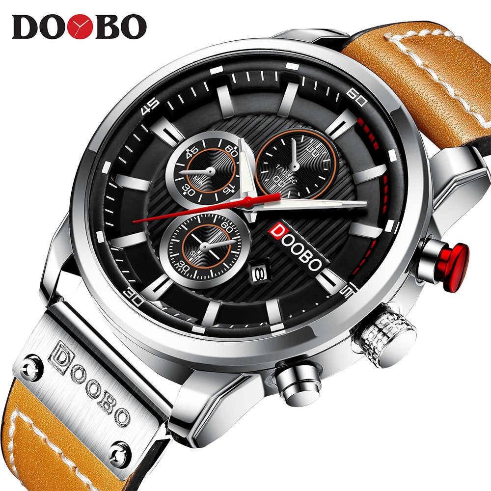 DOOBO, новинка, Топ бренд, роскошные модные повседневные кварцевые мужские часы с кожаным ремешком, мужские наручные часы с датой, Часы Montre Homme 8291