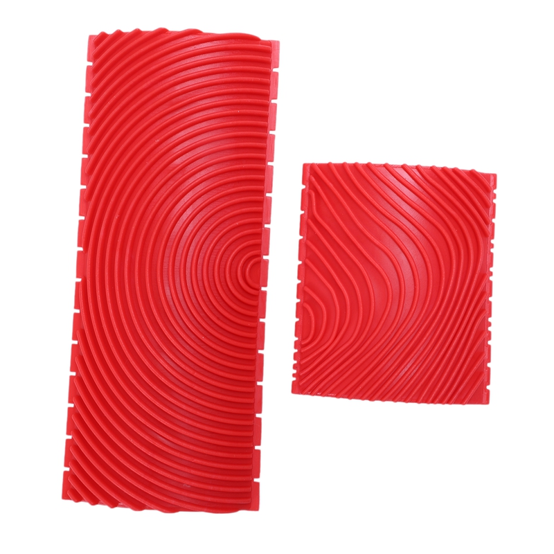 2pcs Wood Graining Grain Rubber Patin Painting Effects DIY Wall Decoration Tools