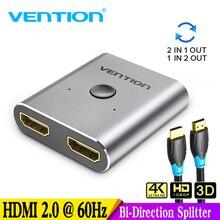 4K HDMI коммутатор 2 порта двунаправленный 1x2/2x1 HDMI коммутатор сплиттер Sup порты Ultra HD 4K 1080P 3D HDR HDCP для PS4 Xbox HDTV