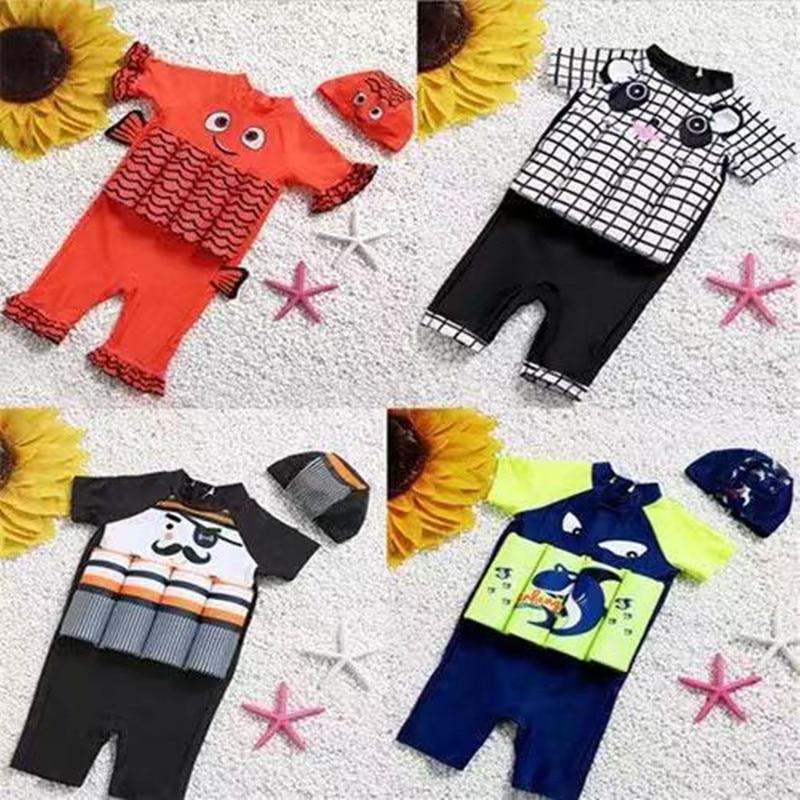 New Style CHILDREN'S Buoyancy Swimsuit Men And Women Child Baby Unisex Cartoon Buoyancy Swimwear Small Tong Dai Celebrity Style